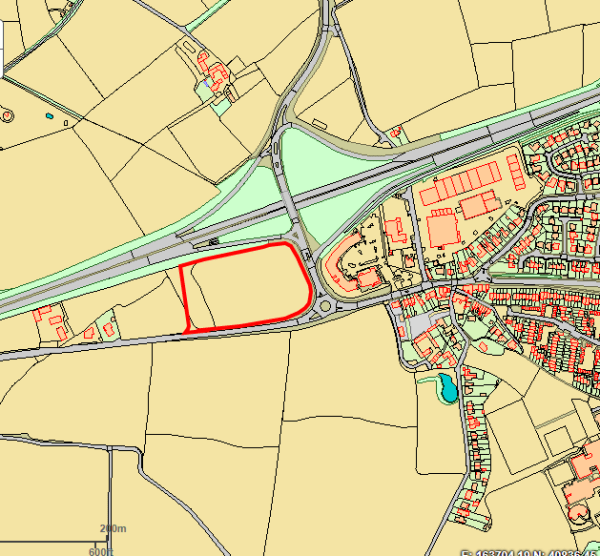 The area is near the Camborne west junction of the A30 at the top of the Roseworthy dip